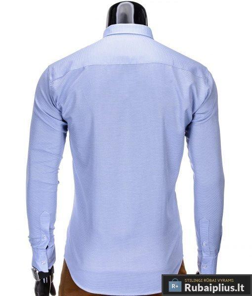 """Marškiniai vyrams. Stilingi š.mėlyni vyriški marškiniai """"TIKS"""" - Rubaiplius.lt"""