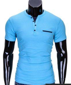 Šviesiai mėlynos spalvos vyriški marškinėliai vyrams internetu pigiau Gizmo S634