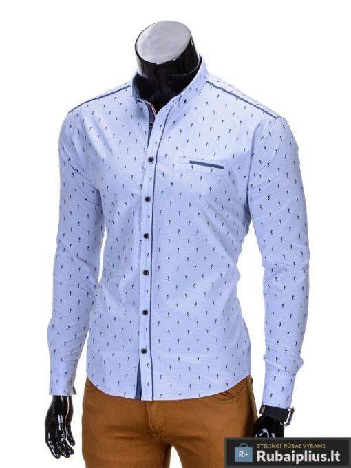 """Šviesiai mėlynos spalvos vyriški marškiniai vyrams """"Ocean""""-Rubaiplius.lt"""