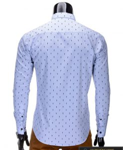 Šviesiai mėlynos spalvos vyriški marškiniai vyrams