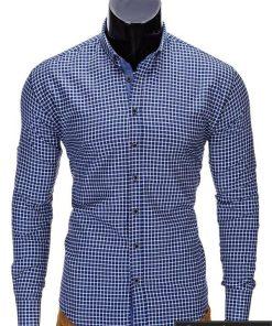 """Stilingi tamsiai mėlyni vyriški marškiniai vyrams """"Morton"""" - Rubaiplius.lt"""