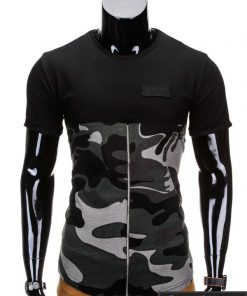Juodos spalvos vyriški marškinėliai vyrams internetu pigiau Zag S683