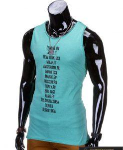 """Žalio spalvos be rankovių vyriški marškinėliai vyrams """"Rurk"""" - Rubaiplius.lt"""