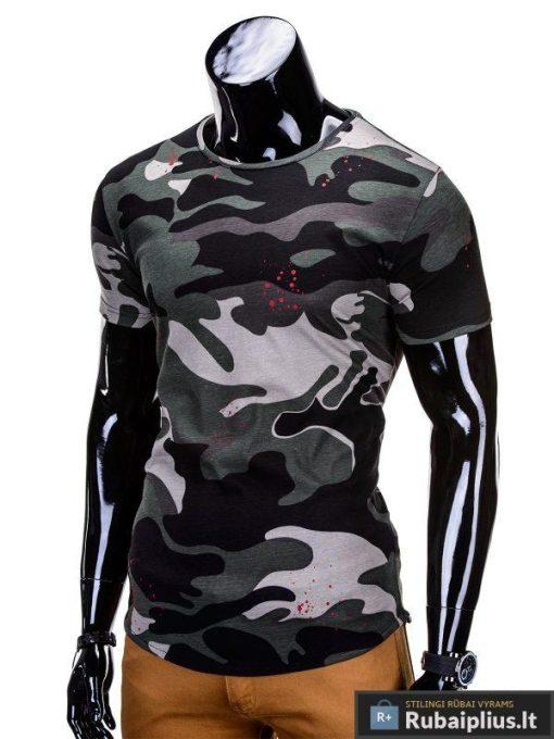 """Žali kamufliažiniai vyriški marškinėliai vyrams """"Soldier"""" - Rubaiplius.lt"""
