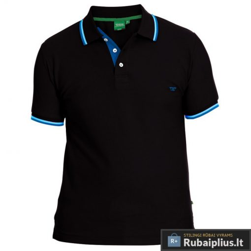 Juodos spalvos vyriški polo marškinėliai vyrams internetu Racer 166476J