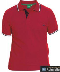 Didelių dydžių raudonos spalvos vyriški polo marškinėliai vyrams Racer big KS16676A-R