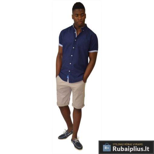 Elegantiški mėlynos spalvos vyriški marškiniai vyrams trumpomis rankovėmis internetu pigiau Levi 112183M