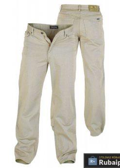 Didelių dydžių smėlio spalvos vyriškos džinsinės kelnės Comfort RJ340
