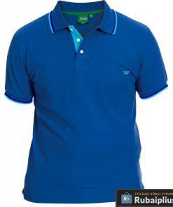 Didelių dydžių mėlynos spalvos vyriški polo marškinėliai vyrams Racer big KS16676A-M