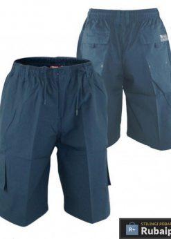 Tamsiai mėlynos spalvos vyriški šortai vyrams internetu pigiau Nick KS20462A-TM