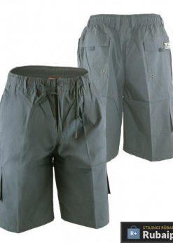 Tamsiai pilkos spalvos vyriški šortai vyrams internetu pigiau Nick KS20462A-TP