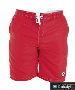 Tamsiai raudonos spalvos vyriški paplūdimio šortai vyrams internetu pigiau Clyde 208118TR