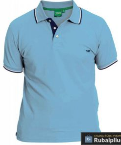 Šviesiai mėlynos spalvos vyriški polo marškinėliai vyrams Racer big KS16676A-SM