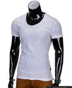 balti melanžiniai marškinėliai, madingi vyriški marškinėliai baltos spalvos, denim kolekcijos vyriški marškinėliai, trumpomis rankovėmis marškinėliai vyrams, klasikiniai vyriški marškinėliai, stilingi marškinėliai vyrams internetu, originalūs vyriški marškinėliai, marškinėliai vyrams spalvos, vyriški marškinėliai su užrašu ir aplikacija, stilingi marškinėliai uz gera kaina, protinga kaina, akcija, nuolaidos rūbams