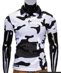 Baltos spalvos kamufliažiniai vyriški polo marškinėliai vyrams internetu pigiau Armino S694