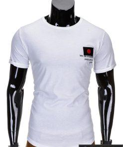 Baltos spalvos vyriški marškinėliai vyrams internetu pigiau Fixi S684