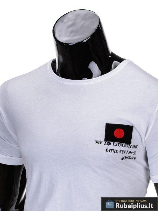 marškinėliai su hieroglifais, madingi vyriški marškinėliai baltos spalvos, denim kolekcijos vyriški marškinėliai, trumpomis rankovėmis marškinėliai vyrams, klasikiniai vyriški marškinėliai, stilingi marškinėliai vyrams internetu, originalūs vyriški marškinėliai, marškinėliai vyrams spalvos, vyriški marškinėliai su užrašu ir aplikacija, stilingi marškinėliai uz gera kaina, protinga kaina, akcija, nuolaidos rūbams