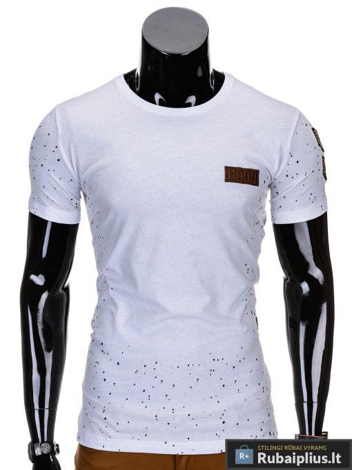 Baltos spalvos vyriški marškinėliai vyrams internetu pigiau Good S691