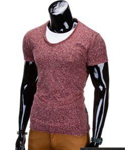 bordo melanžiniai marškinėliai, madingi vyriški marškinėliai bordo spalvos, denim kolekcijos vyriški marškinėliai, trumpomis rankovėmis marškinėliai vyrams, klasikiniai vyriški marškinėliai, stilingi marškinėliai vyrams internetu, originalūs vyriški marškinėliai, marškinėliai vyrams spalvos, vyriški marškinėliai su užrašu ir aplikacija, stilingi marškinėliai uz gera kaina, protinga kaina, akcija, nuolaidos rūbams