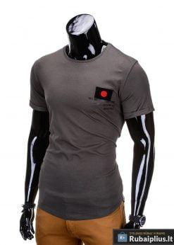 marškinėliai su hieroglifais, madingi vyriški marškinėliai chaki spalvos, denim kolekcijos vyriški marškinėliai, trumpomis rankovėmis marškinėliai vyrams, klasikiniai vyriški marškinėliai, stilingi marškinėliai vyrams internetu, originalūs vyriški marškinėliai, marškinėliai vyrams spalvos, vyriški marškinėliai su užrašu ir aplikacija, stilingi marškinėliai uz gera kaina, protinga kaina, akcija, nuolaidos rūbams