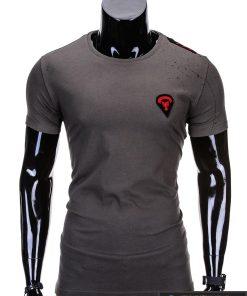marškinėliai vyrams su aptaškimo dažais aplikacija, madingi vyriški marškinėliai chaki spalvos, denim kolekcijos vyriški marškinėliai, trumpomis rankovėmis marškinėliai vyrams, klasikiniai vyriški marškinėliai, stilingi marškinėliai vyrams internetu, originalūs vyriški marškinėliai, marškinėliai vyrams spalvos, vyriški marškinėliai su užrašu ir aplikacija, stilingi marškinėliai uz gera kaina, protinga kaina, akcija, nuolaidos rūbams