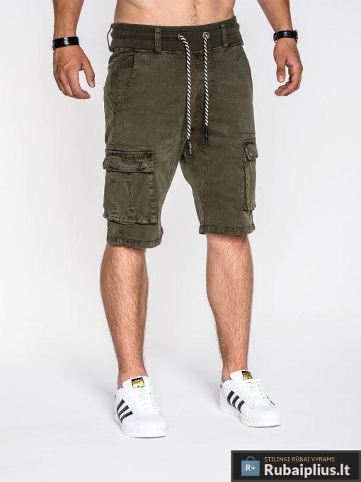 chaki šortai su kišenėmis, chaki spalvos šortai, vyriški šortai internetu, pirkti džinsiniai šortai, originalus šortai vyrams, spalvos vyriški bridžai, bridžai vyrams gera kaina