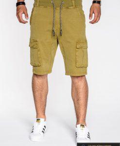 garstyčių spalvos šortai, geltoni šortai, vyriški šortai internetu, pirkti džinsiniai šortai, originalus šortai vyrams, geltonos spalvos vyriški bridžai, bridžai vyrams gera kaina