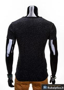 juodi melanžiniai marškinėliai, madingi vyriški marškinėliai juodos spalvos, denim kolekcijos vyriški marškinėliai, trumpomis rankovėmis marškinėliai vyrams, klasikiniai vyriški marškinėliai, stilingi marškinėliai vyrams internetu, originalūs vyriški marškinėliai, marškinėliai vyrams spalvos, vyriški marškinėliai su užrašu ir aplikacija, stilingi marškinėliai uz gera kaina, protinga kaina, akcija, nuolaidos rūbams