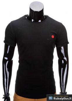 Juodos spalvos vyriški marškinėliai vyrams internetu pigiau Fixi S684