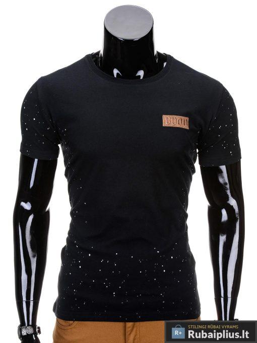 Juodos spalvos vyriški marškinėliai vyrams internetu pigiau Good S691