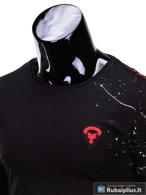 marškinėliai vyrams su aptaškimo dažais aplikacija, madingi vyriški marškinėliai juodos spalvos, denim kolekcijos vyriški marškinėliai, trumpomis rankovėmis marškinėliai vyrams, klasikiniai vyriški marškinėliai, stilingi marškinėliai vyrams internetu, originalūs vyriški marškinėliai, marškinėliai vyrams spalvos, vyriški marškinėliai su užrašu ir aplikacija, stilingi marškinėliai uz gera kaina, protinga kaina, akcija, nuolaidos rūbams