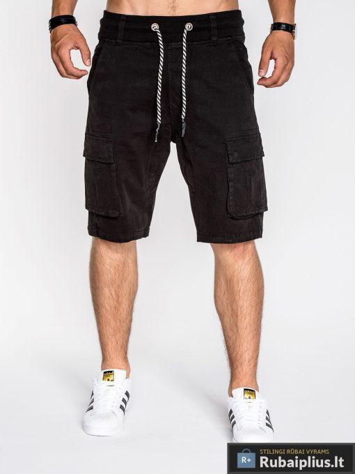 Juodos spalvos vyriški šortai vyrams internetu pigiau Zak P527