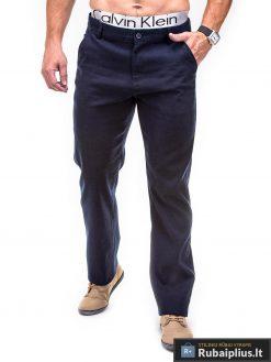 tamsiai mėlynos spalvos vyriškos kelnės, tamsiai mėlyni klasikinio stiliaus kelnės, džinsai, džinsinės kelnės, vyriškos kelnės, kelnės vyrams, sportinės kelnės, laisvalaikio kelnės