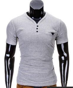 Pilkos spalvos vyriški marškinėliai vyrams internetu pigiau Timmy S629