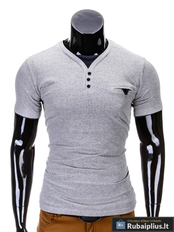 madingi vyriški marškinėliai pilkos spalvos, denim kolekcijos vyriški marškinėliai, trumpomis rankovėmis marškinėliai vyrams, klasikiniai vyriški marškinėliai, stilingi marškinėliai vyrams internetu, originalūs vyriški marškinėliai, marškinėliai vyrams spalvos, vyriški marškinėliai su užrašu ir aplikacija, stilingi marškinėliai uz gera kaina, protinga kaina, akcija, nuolaidos rūbams