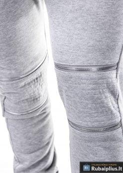 pilkos sportinės kelnės vyrams