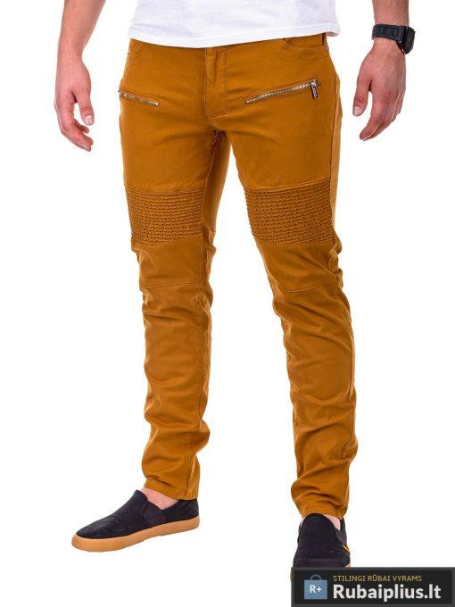 rudos spalvos kelnės, kelnės iš aukštos kokybės medvilnės, klasikinio stiliaus, džinsai, džinsinės kelnės, gražios vyriškos kelnės, madingos kelnės vyrams, stilingos kelnės, laisvalaikio kelnės