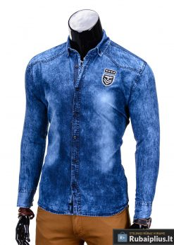 stilingi džinso spalvos marškiniai vyrams, melyni marškiniai, džiniai marškiniai, madingi marškiniai vyrams ilgomis rankovemis, vyriški marškiniai internetu, originalūs vyriški marškiniai internetu, klasikiniai marškiniai vyrams, stilingi marškiniai vyrams, aukšta kokybė, greitas pristatymas, apmokėjimas gavus prekes, vyriškų striukių išpardavimas
