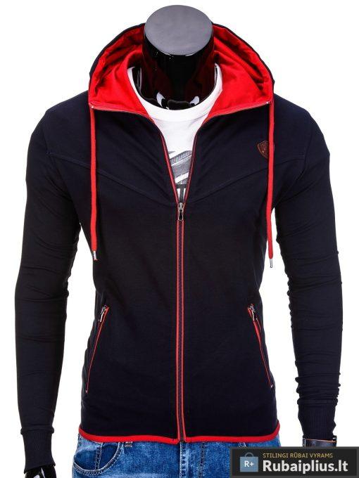 Tamsiai mėlynos spalvos vyriškas džemperis internetu pigiau Vers B652