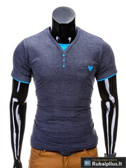 madingi vyriški marškinėliai tamsiai mėlynos spalvos, denim kolekcijos vyriški marškinėliai, trumpomis rankovėmis marškinėliai vyrams, klasikiniai vyriški marškinėliai, stilingi marškinėliai vyrams internetu, originalūs vyriški marškinėliai, marškinėliai vyrams spalvos, vyriški marškinėliai su užrašu ir aplikacija, stilingi marškinėliai uz gera kaina, protinga kaina, akcija, nuolaidos rūbams