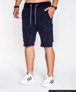 tamsiai mėlyni šortai su kišenėmis, tamsiai mėlynos spalvos šortai, vyriški šortai internetu, pirkti džinsiniai šortai, originalus šortai vyrams, vyriški bridžai, bridžai vyrams gera kaina