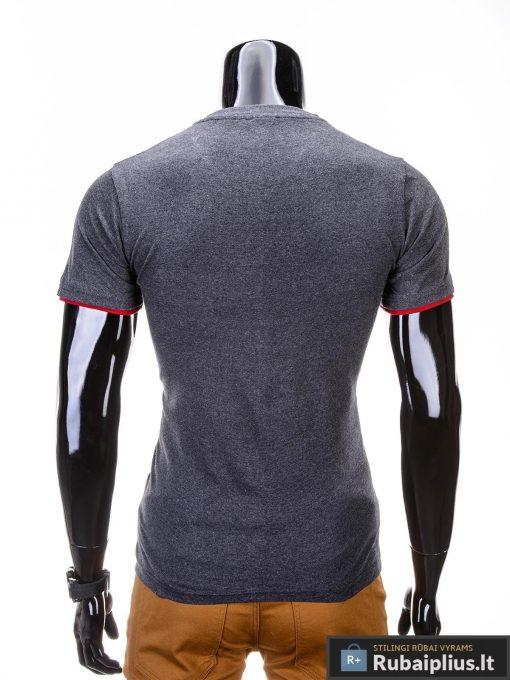 madingi vyriški marškinėliai tamsiai pilkos spalvos, denim kolekcijos vyriški marškinėliai, trumpomis rankovėmis marškinėliai vyrams, klasikiniai vyriški marškinėliai, stilingi marškinėliai vyrams internetu, originalūs vyriški marškinėliai, marškinėliai vyrams spalvos, vyriški marškinėliai su užrašu ir aplikacija, stilingi marškinėliai uz gera kaina, protinga kaina, akcija, nuolaidos rūbams