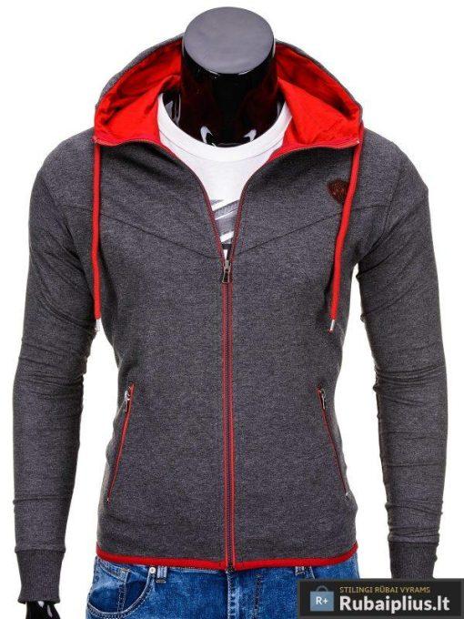 Tamsiai pilkos spalvos vyriškas džemperis internetu pigiau Vers B652