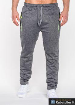 Tamsiai pilkos spalvos vyriškos sportinės kelnės vyrams internetu Losangeles P523