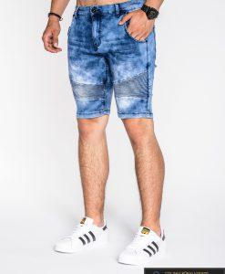 mėlyni vyriški šortai , vyriški šortai internetu, pirkti, džinsiniai šortai, originalus šortai vyrams, mėlynos spalvos vyriški bridžai, bridžai vyrams gera kaina