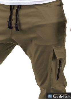 žalios spalvos kelnės su kišenėmis, žalios laisvalaikio vyriškos kelnės, jogger stiliaus kelnės, džinsai, džinsinės kelnės, vyriškos kelnės, kelnės vyrams, sportinės kelnės, laisvalaikio kelnės