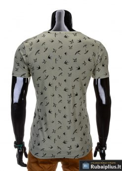 marškinėliai vyrams išmarginti juodos spalvos kregždutėmis, madingi vyriški marškinėliai žalios spalvos, denim kolekcijos vyriški marškinėliai, trumpomis rankovėmis marškinėliai vyrams, klasikiniai vyriški marškinėliai, stilingi marškinėliai vyrams internetu, originalūs vyriški marškinėliai, marškinėliai vyrams spalvos, vyriški marškinėliai su užrašu ir aplikacija, stilingi marškinėliai uz gera kaina, protinga kaina, akcija, nuolaidos rūbams