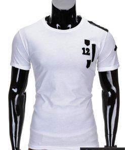 Baltos spalvos vyriški marškinėliai vyrams internetu pigiau 12 S701