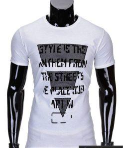 Baltos spalvos vyriški marškinėliai vyrams internetu pigiau Style S703