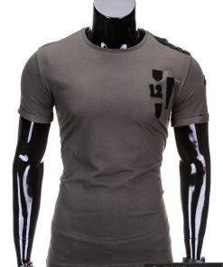 Chaki spalvos vyriški marškinėliai vyrams internetu pigiau 12 S701